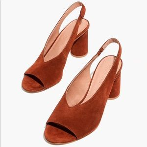 Madewell Alana Slingback Heels (size 8)